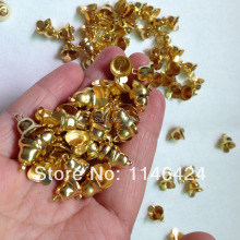 100pieces/lot 10MM*11MM Small Jingle Bells Gold Silver For Christmas Decors Handmade Jewelry