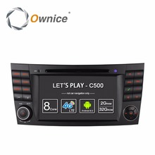 4G SIM LTE Android 6.0 Octa 8 Core 1024*600 Car DVD Player for Mercedes E Class W211 W209 W219 WIFI Radio GPS 2GB RAM 32GB ROM(China)