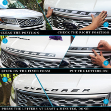 DIY car 3D EXPLORER Fixed Letters Hood Emblem Chrome Logo Badge Sticker For 2011 2012 2013 2014 2015 2016 Ford Explorer Sport