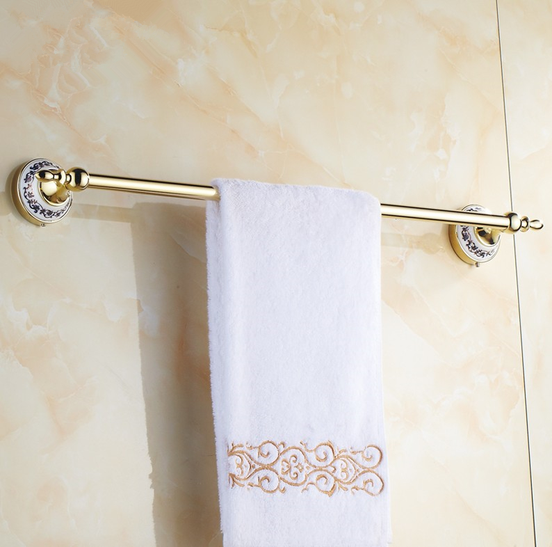 2016 Bathroom Accessories,  European luxury Gold Finish Single Towel Bar&amp;Towel Rack /Creative Ceramics Design Style<br>