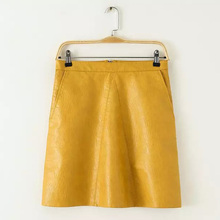 Sexy Candy Colors PU Faux Leather Slim A-Line High Waist Mini Short Skirt Stylish Women Trendy Thin femme 5 Colors