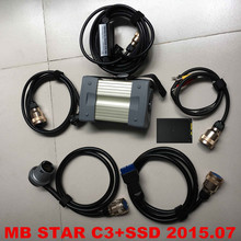 2016 Best Quality MB STAR C3 full sets with 2015.07 Newest software SSD professional Auto Diagnostic Tools for Benz free ship
