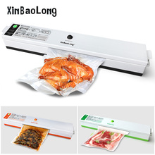 Food Vacuum Sealer Packaging Machine 110V 220V Film Sealer Vacuum Packer Saver Storage Rolls 15Pcs Bags Best Vacuum Food Sealer(China)