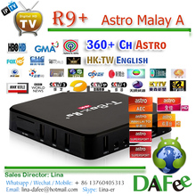 Cheap 4K TV Box R9+ RK3229 Android HD IPTV Astro Malaysia/Chinese/Thai/Vietnam Popular 310 Channels 1 year Free Trial DHL Ship