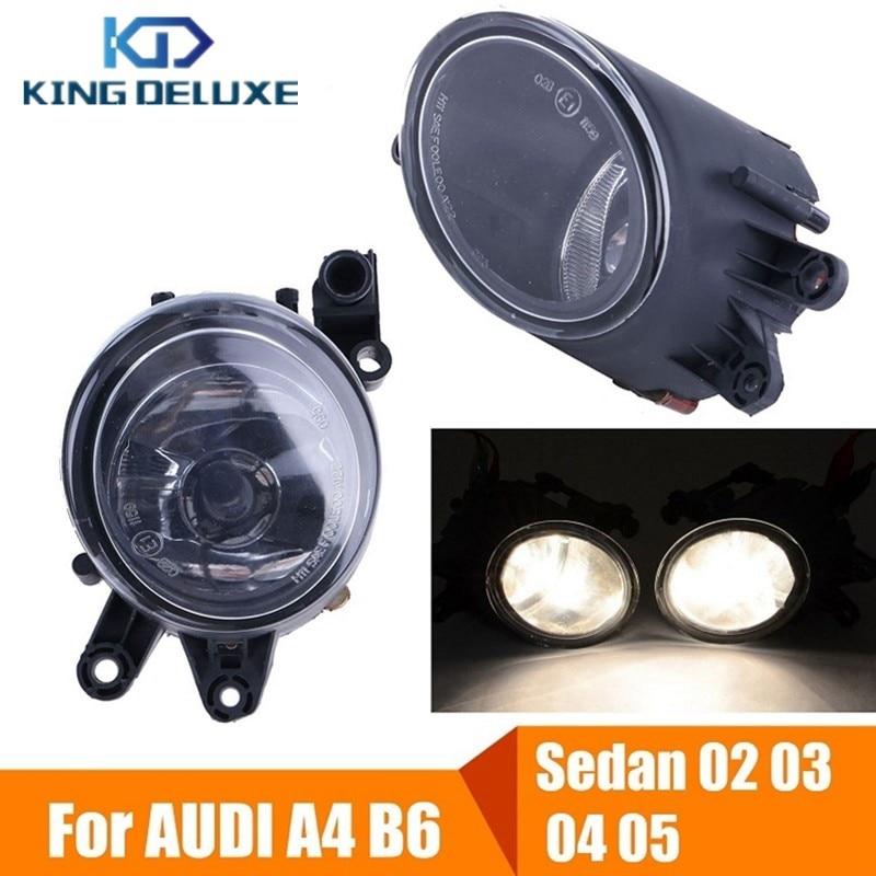 2X Front Bumper Fog Lights Foglamps Clear Lens with H11 Bulbs For AUDI A4 B6 Sedan 8E Sedan &amp; Quattro 2002 2003 2004 2005 #P93<br>