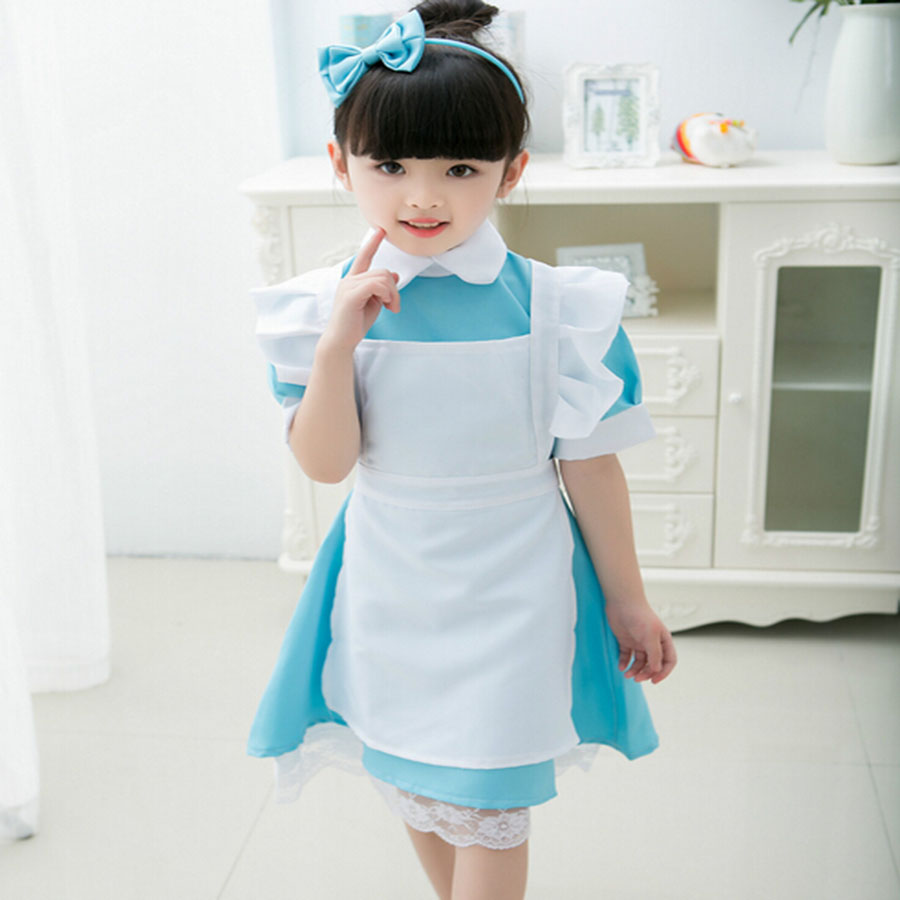 2016 Princess Cinderella Alice In Wonderland Costume Fancy Dress Dirndl School Uniform Halloween Christmas For Baby Girls Kids(China (Mainland))