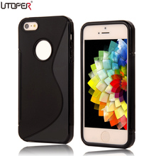 For iPhone 4 4s Case Coque S LINE Anti Skid Soft Silicone Gel TPU Slim Back Cover For Apple iPhone4 iphone4S Matte Protect Cases