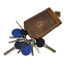 Key Wallets Crazy Horse Genuine Cow Leather Wallets & Holders Men& Car Wallets Key chain Holder Keys Wallet