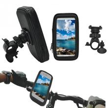New 360 degree rotation Universal Waterproof Cellphone Bag and Handlebar Mount Holder Case for Motorcycle Bike(China)