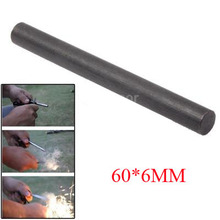 60*6mm(2.36*0.236in) magnesium rod  Fire starter tool flint stone lighter outdoor survive camp hike Ferrocerium mechero