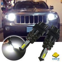6000K Xenon White High Power 3156 3056 3157 4CREE LED Bulbs For 2011-up Jeep Compass Grand Cherokee For Daytime Running Lights