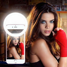 Portable Flash Mobile Phone LED Ring Selfie Light Night Darkness Selfie Lamps for Smartphone iPhone 7 plus 6s 5s Samsung Galaxy