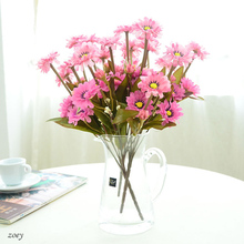 new arrival 7 branches colored artificial silk Chrysanthemum flower for DIY Home Decoration Pictures props