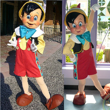 ohlees adult size High quality Pinocchio Mascot Costume Adult Halloween Fancy Dress Cartoon Character Outfit Suit, Free Shipping