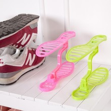 Mini plastic shoe rack Organizer Stand Shelf Holder Unit Black Light Living Room Furniture Shoe Hanger Space Saver