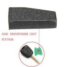 Car Key Transponder Blank ID46 PCF7936 Virgin Transponder Chip For Peugeot Citroen 13x6x3mm