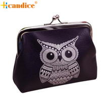 Naivety 2016 New Fashion Mini Womens Owl Wallet Card Holder Coin Purse Lady Clutch Bag JUl4 drop shipping