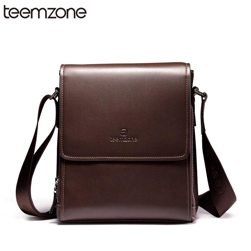 teemzone Flap Mens Genuine Leather Business Messenger University School Shoulder Bag Brand New Satchel Cross Body T0756<br><br>Aliexpress