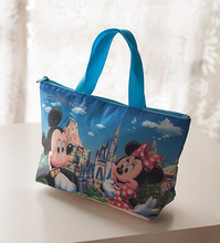 New Mickey Canvas Picnic Pag Lunch Bag Female Casual Storage Bag 31*17*9cm Kids Christmas Gifts brinquedos