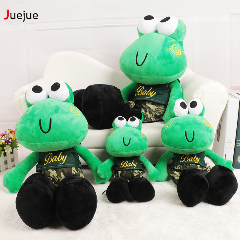 Cartoon toy frogs doll Soft love frog pillow 2016 New design frog cushion Stuffed animal plush doll toys for children Kids toys(China (Mainland))