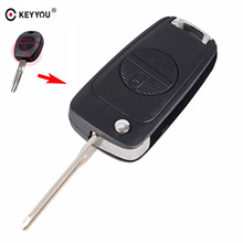 KEYYOU Modified Remote Car Key Shell Case 2 Buttons For Nissan Micra Almera Primera X-Trail Uncut Key Case Cover A33 Blade