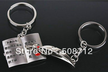 Free ship!!! 20pairs/lot Compose life couple keychain Fashion Metal couples Key Ring for lover