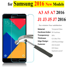 0.3mm Tempered Glass For Samsung Galaxy A3 A5 A7 A310F A510F A710F A7100 J1 J120F J3 J5 J7 2016 Screen Protector Film Phone Case(China)