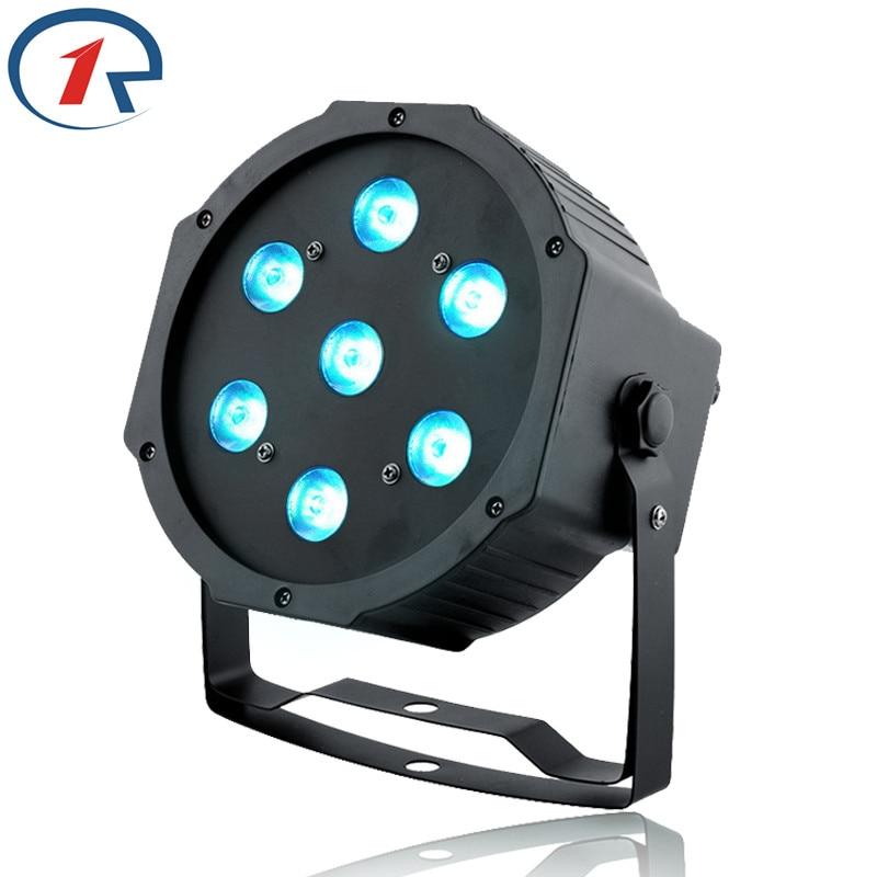 ZjRight High Power 70W colorful LED Par lights DMX512 LED Stage Light Large concert Dyeing lights for bar dj disco effect lights<br>