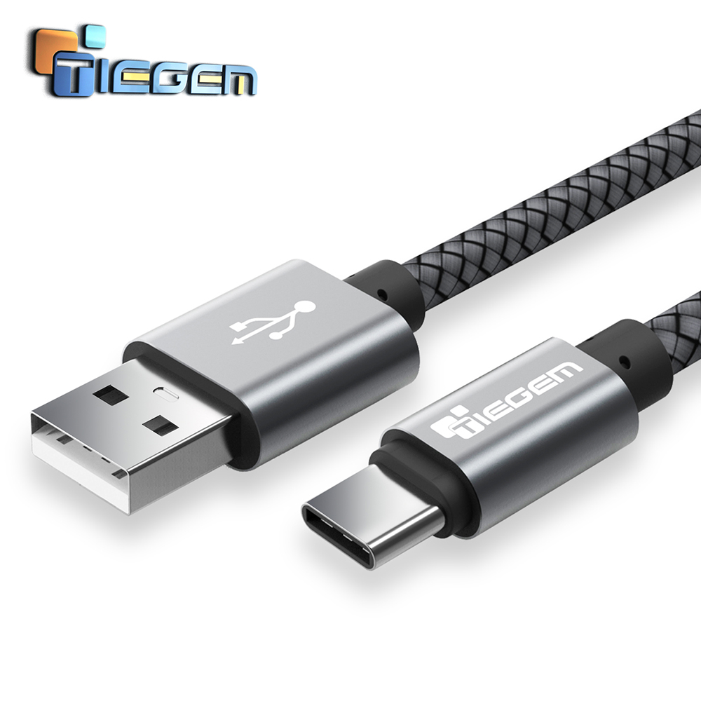 TIEGEM Original USB 3 1 USB Type C font b Cable b font Nylon Line and