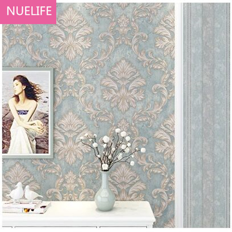 0.53x10m European Style 3D Striped Nonwovens Wallpaper Bedroom Living Room Bedroom Wedding Room TV Background Wallpaper N2<br>