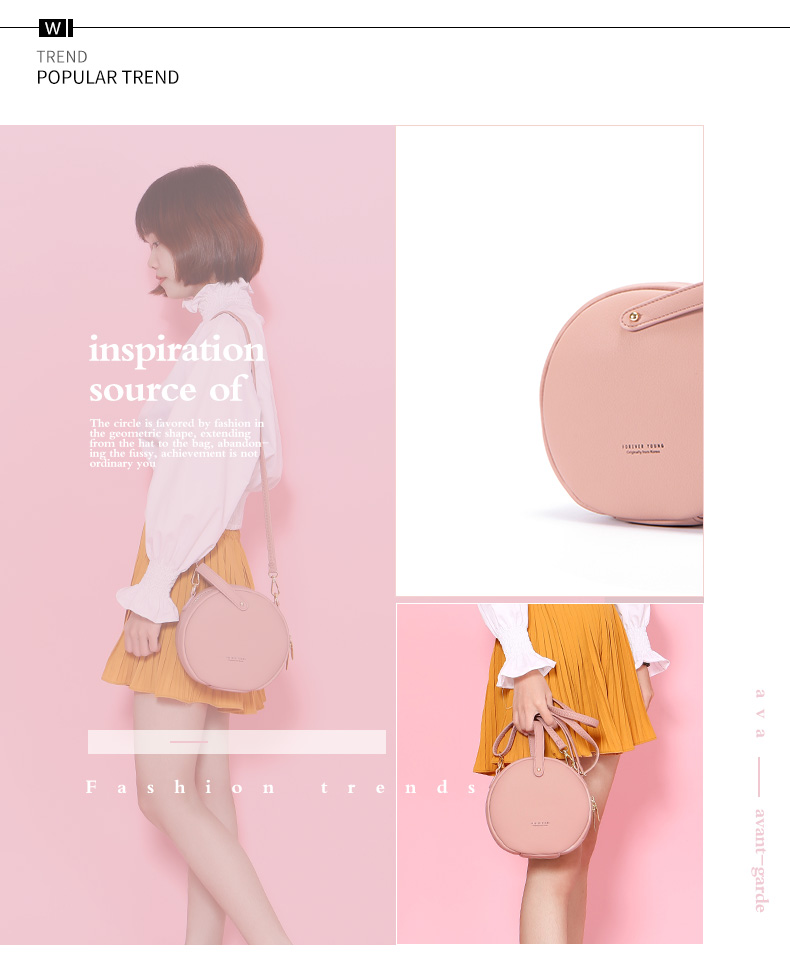 حقيبة بشكل دائري صغيرة الحجم بالوان متعددة 6