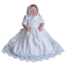 BBWOWLIN Ivory Baby Girl Christening Gowns for 0-2 Years Little Girls Birthday Wedding Christmas 7006(China)