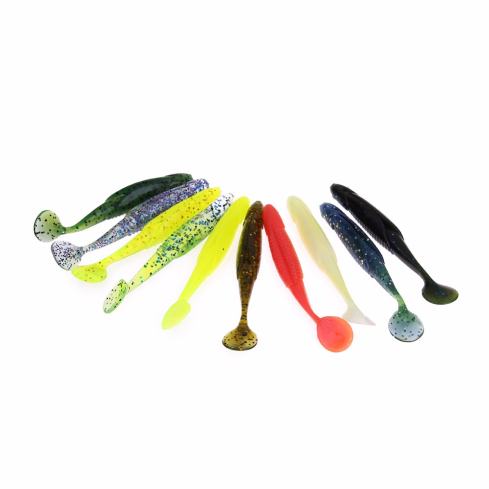 20pcs/pack Simulate Fish-shape Sinking Soft Silicone Fishing Lures Fish Lure Bait Tackle Hook 10.1cm Hot Selling Lures<br><br>Aliexpress