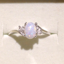 Vintage Round Natural Pear Shape Opal Engagement Oval Cut Diamond Halo Split Shank Wedding Band Ring for Women Jewelry 7C1052(China)