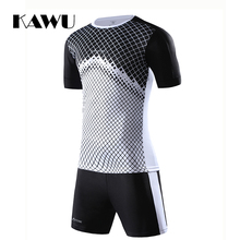 KAWU DIY Soccer jerseys Set Custom Made 2017 Men Football Suit Short Sport survetement Clothes Suit maillot de foot S17028(China)