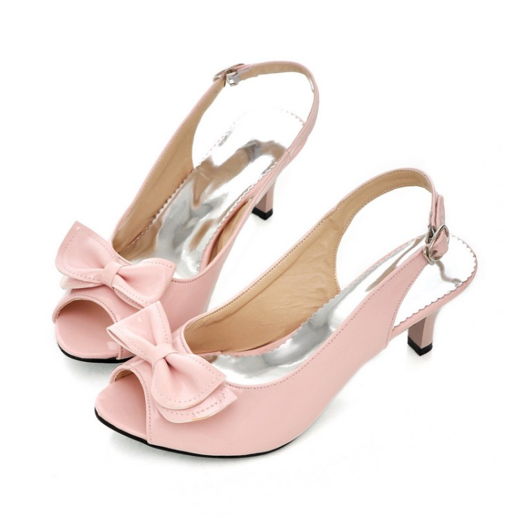 2015 Summer Open Toe Buckle Candy Color Sweet Sandals For Women Large Size 34 - 45 Female Medium Heels Shoes Women Casual Pumps<br><br>Aliexpress