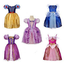 Summer Girls Dresses xmas gift Tutu Princess Costume Baby Elsa Anna Dress Snow Queen Baby Kids Dress Party Dress Girls Clothes(China)