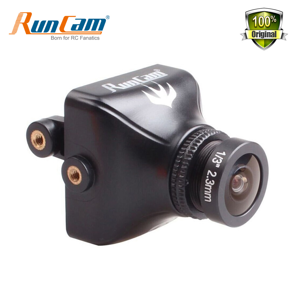 RunCam Swift2 600TVL FPV Camera FOV 150/165 Degree 2.3mm/2.1mm Lens OSD with IR Blocked PAL NTS for RC Quadcopter Racing Drone<br>