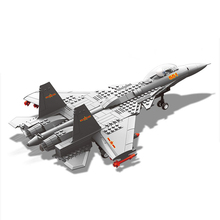 Military Enlighten Building Blocks Army DIY Bricks Fighter Airplane Aircraft Model J-15 WZ10 J-20 F-15 V-22 Gift For Children(China)