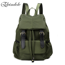 Eleindole Large Backback for Women Nylon Waterproof Stylish Hasp&Cover Solid Korean Style Fashion Backpacks for Women 2018 New(China)