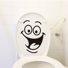 big mouth toilet stickers wall decorations 342. diy vinyl adesivos de paredes home decal mual art waterproof posters paper 7.0(China)