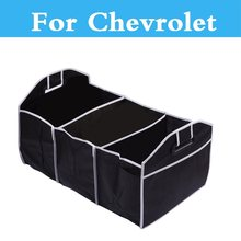 Folding Car Storage Box Container Bags Organizer For Chevrolet Corvette Cruze Epica Equinox Evanda HHR Impala Kalos Lacetti(China)