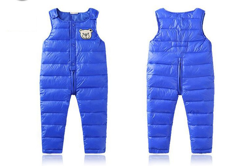 COOTELILI Cotton Winter Overalls Padded Outdoor Romper Pants High Quality Baby Girls Boys Jumpsuit Kids Clothes  90-110cm  (6)