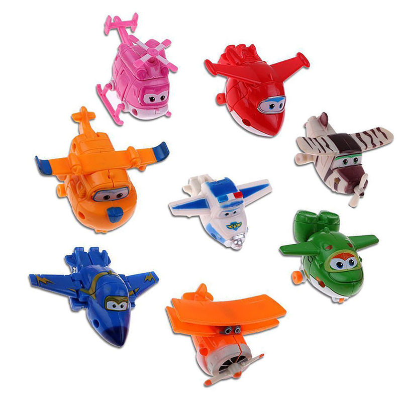 8pcs/set MINI Airplane Anime Super Wings Model toy Transformation Robot Action Figures superwings toys for Children Kids 18