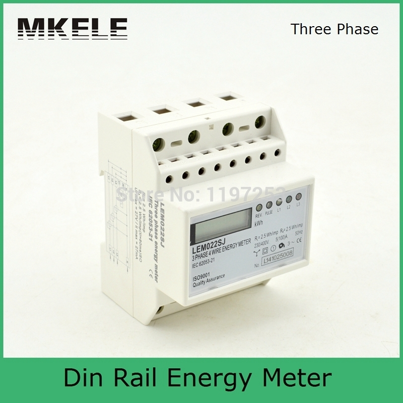 New Arrivals Small Three Phase MK-LEM022SJ Mini Din Rail Electronice Energy Electricity Meter Digital Display China<br>