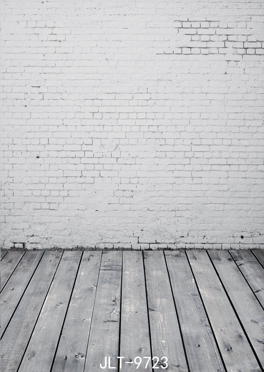 White brick wall wood floor photography background 150x210cm Photography-studio-backdrop Fond studio photo vinyle  SJOLOON <br><br>Aliexpress