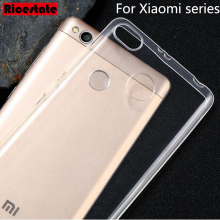 Ultra-thin Clear TPU Soft Case For Xiaomi Mi2 Mi3 Mi4 Mi4i Mi4S Mi5 Mi5s Mi5c Plus Mi6 Mix Max Redmi Note 2 3 3S 4 Pro 4A 4X(China)