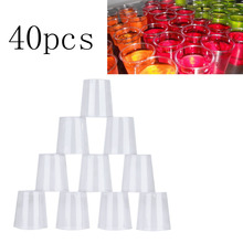 Disposable Cups Jelly Cups Tumblers Birthday Outdoor Travel Clear Plastic Cups Eco-Friendly Party Supplies CA1T