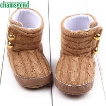 CHAMSGEND Best Seller  Fashion baby shoes cute lovely autumn winter kids Baby Snow Boots Soft Sole Prewalker Crib Shoes S35