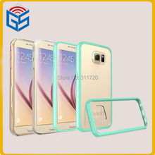 Protective Shell Clear Hard PC+TPU Case Cover For Samsung Galaxy S6 G9200 G920F G920 Phone